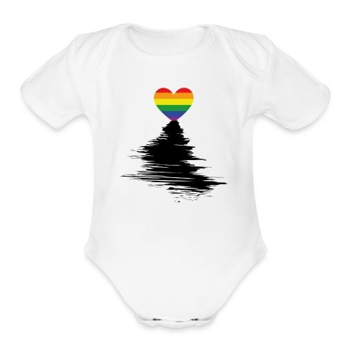 Rainbow Sunset - Organic Short Sleeve Baby Bodysuit