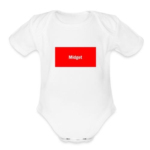 Midget Merch - Organic Short Sleeve Baby Bodysuit