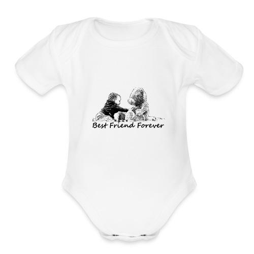 Best Friend Forever (boy) - Organic Short Sleeve Baby Bodysuit