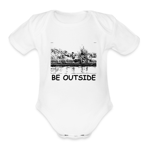 Be Outside - Organic Short Sleeve Baby Bodysuit