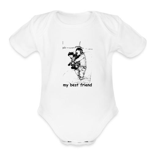 My Best Friend (baby) - Organic Short Sleeve Baby Bodysuit
