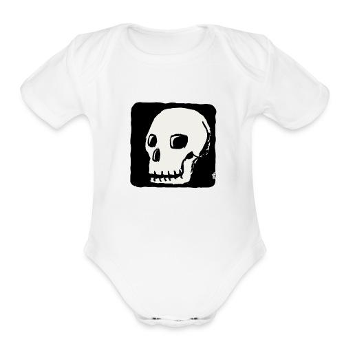 Smiling skull - Organic Short Sleeve Baby Bodysuit