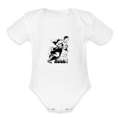 Just Rugby - Organic Short Sleeve Baby Bodysuit