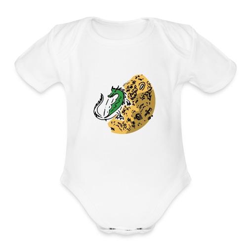 Dragon Gold Keeper - Organic Short Sleeve Baby Bodysuit