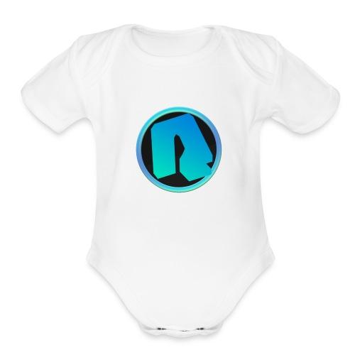 Channel Logo - qppqrently Main Merch - Organic Short Sleeve Baby Bodysuit