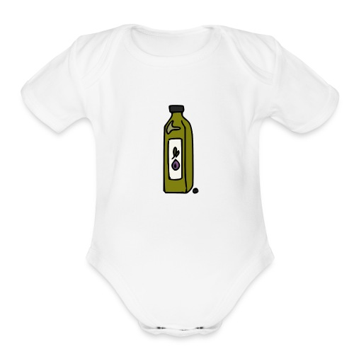 Olive Oil - Organic Short Sleeve Baby Bodysuit