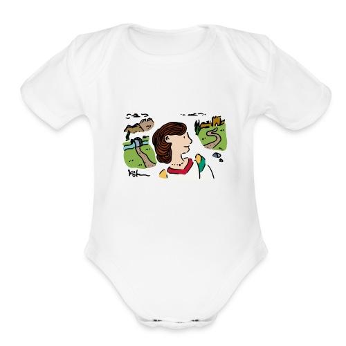 Italian Princess - Organic Short Sleeve Baby Bodysuit