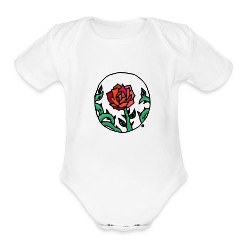Rose Cameo - Organic Short Sleeve Baby Bodysuit