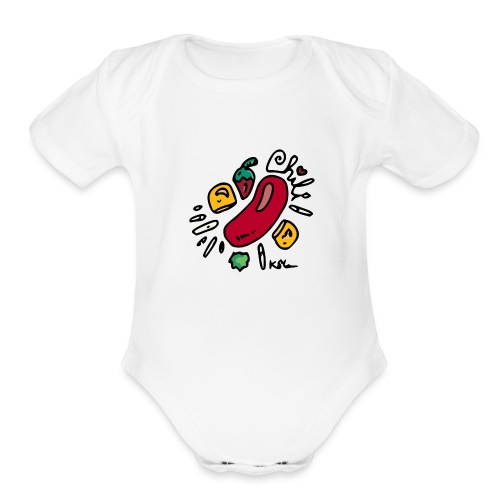 Chili - Organic Short Sleeve Baby Bodysuit