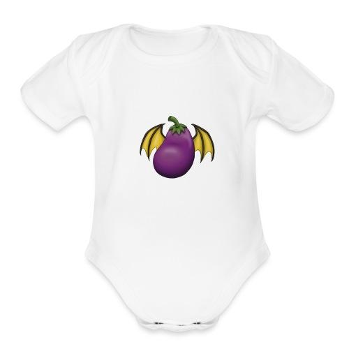 Eggplant Logo - Organic Short Sleeve Baby Bodysuit