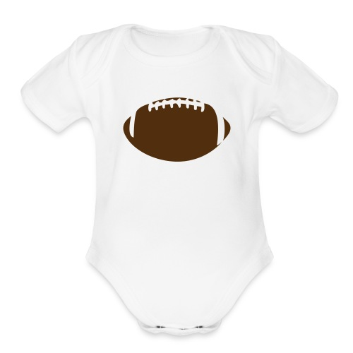 Football Custom - Organic Short Sleeve Baby Bodysuit