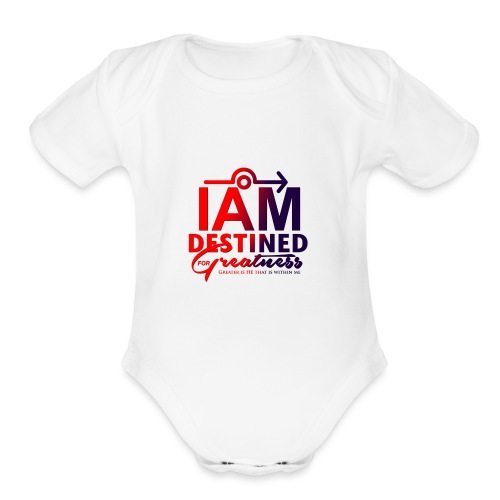 Destined For Greatness - Organic Short Sleeve Baby Bodysuit