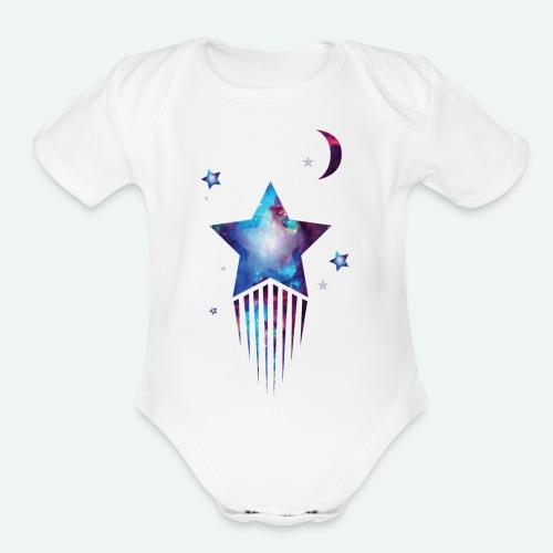 Mummies Little Shooting Star - Organic Short Sleeve Baby Bodysuit