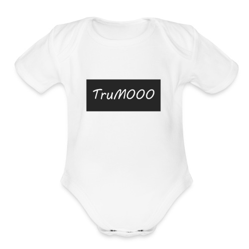TruM000 - Organic Short Sleeve Baby Bodysuit