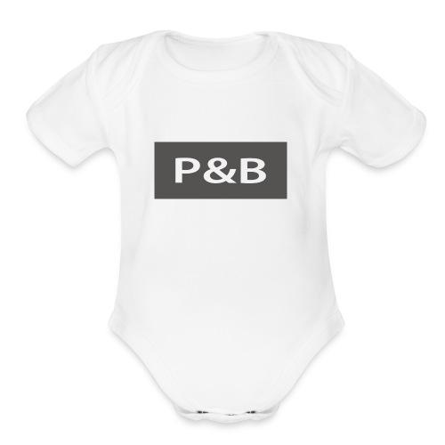 prc brc - Organic Short Sleeve Baby Bodysuit