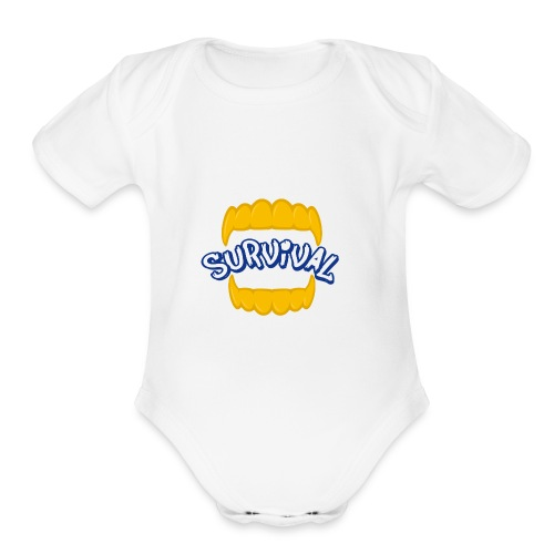 SURVIVAL - Organic Short Sleeve Baby Bodysuit