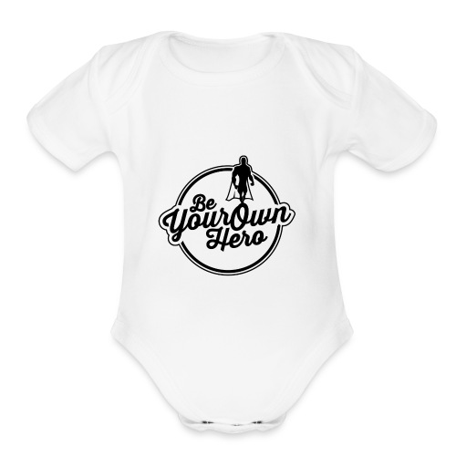 Be Your Own Hero II - Organic Short Sleeve Baby Bodysuit