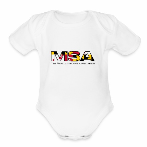 Maryland Flag MSA Logo - Organic Short Sleeve Baby Bodysuit