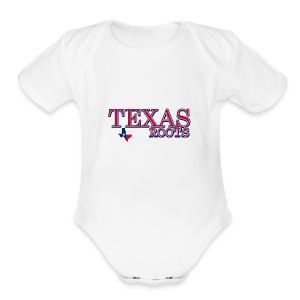 texas roots image - Short Sleeve Baby Bodysuit