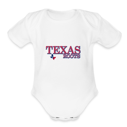 texas roots image - Organic Short Sleeve Baby Bodysuit