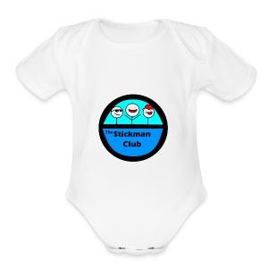 Stickman Club Logo - Short Sleeve Baby Bodysuit