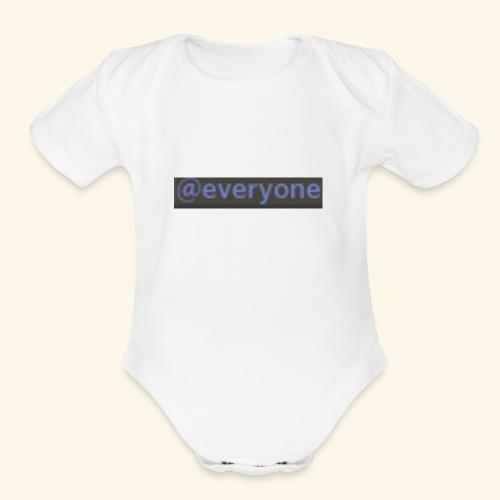 @everyone - Organic Short Sleeve Baby Bodysuit