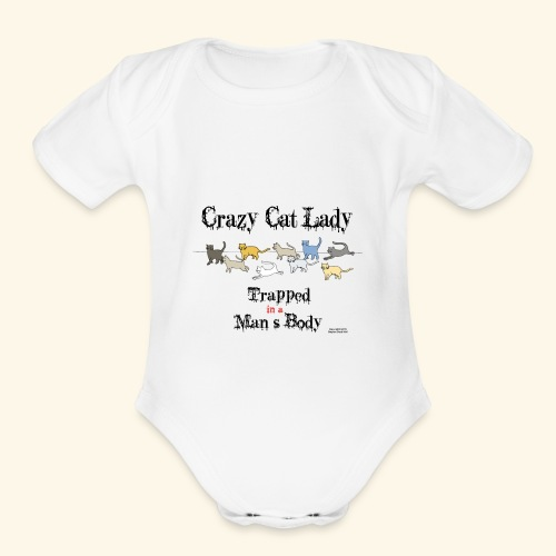 Trapped! - Organic Short Sleeve Baby Bodysuit