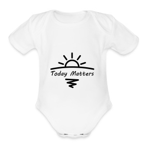Today Matters Logo - Black - Short Sleeve Baby Bodysuit