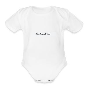 BLACK THREE LINE BAPBABYPAID - Short Sleeve Baby Bodysuit