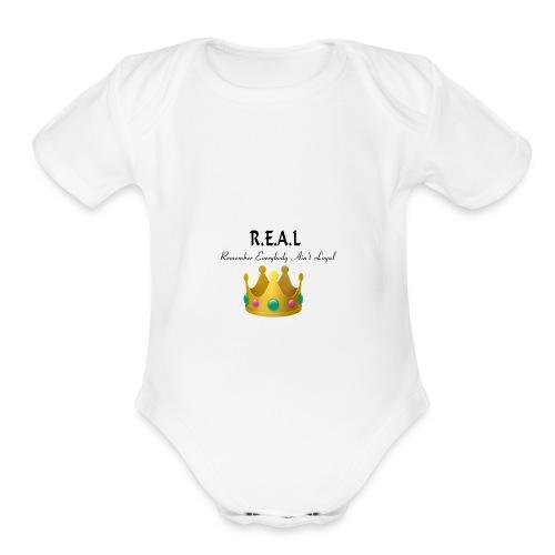 REALcrown - Organic Short Sleeve Baby Bodysuit
