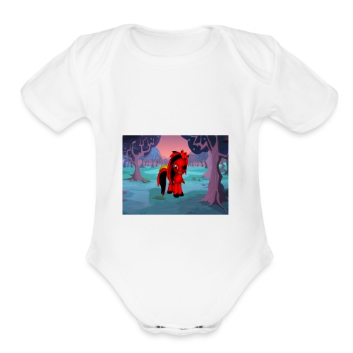 midnight warrior - Organic Short Sleeve Baby Bodysuit