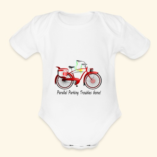 Parallel Parking Troubles Eliminated by Bicycle - Organic Short Sleeve Baby Bodysuit