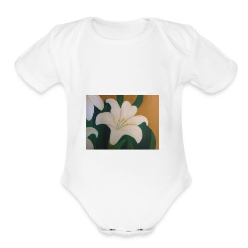 Single Flower - Organic Short Sleeve Baby Bodysuit