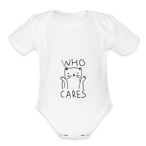who cares - Organic Short Sleeve Baby Bodysuit