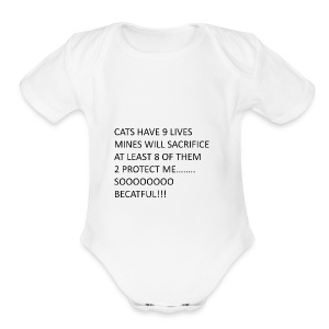 BECATFUL..... - Short Sleeve Baby Bodysuit