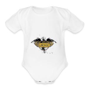 Old School Garage 002 - Short Sleeve Baby Bodysuit