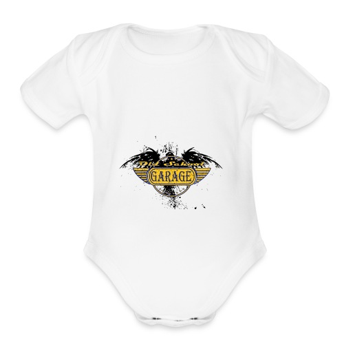 Old School Garage 002 - Organic Short Sleeve Baby Bodysuit