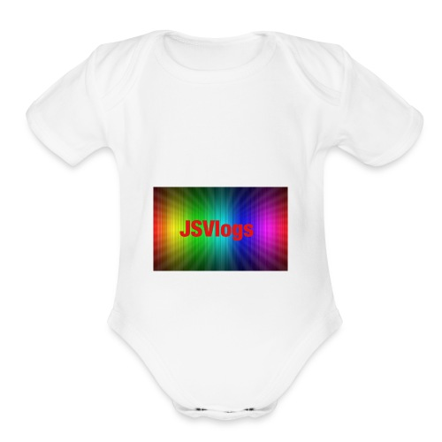 JSVlogs Channel Art - Organic Short Sleeve Baby Bodysuit