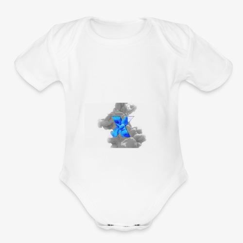 Grey smoke - Organic Short Sleeve Baby Bodysuit