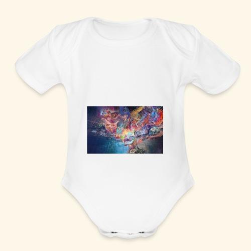 mental explosion - Organic Short Sleeve Baby Bodysuit
