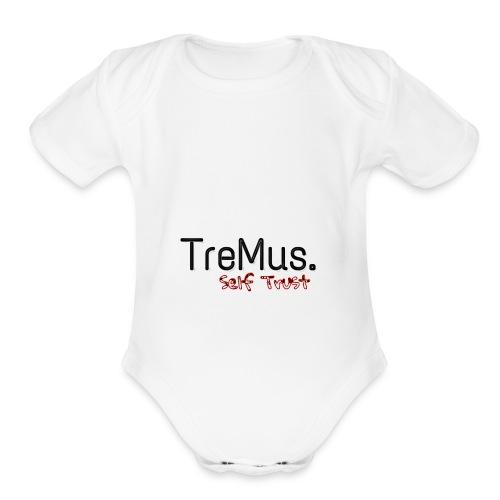 TreMus Self Trust - Organic Short Sleeve Baby Bodysuit