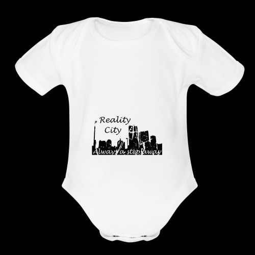 Reality City - light - Organic Short Sleeve Baby Bodysuit