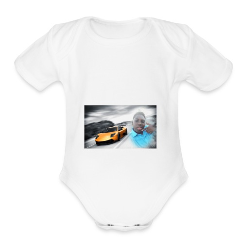 Hozayfa vlogs merch - Organic Short Sleeve Baby Bodysuit