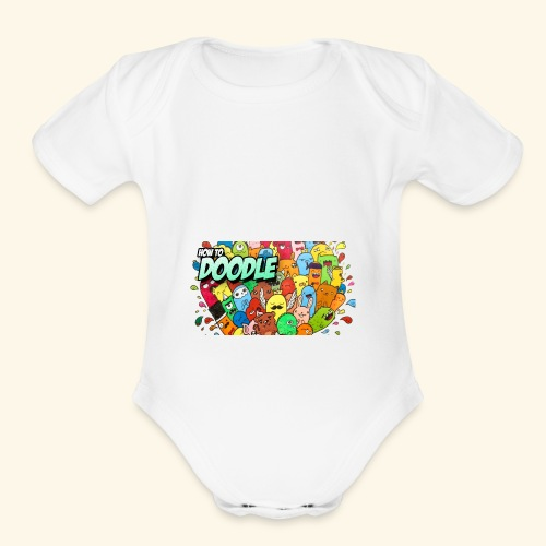DOODLE SQUAD SPECIAL EDITION HOW TO DOODLE - Organic Short Sleeve Baby Bodysuit