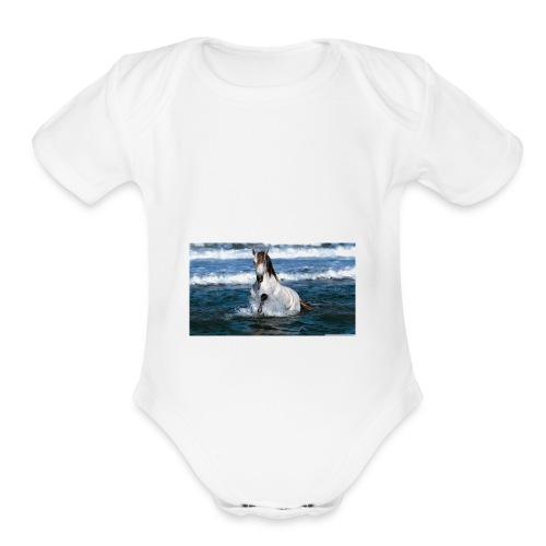 guillermo - Organic Short Sleeve Baby Bodysuit