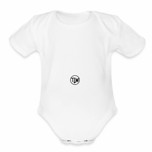 tlw official logo - Organic Short Sleeve Baby Bodysuit