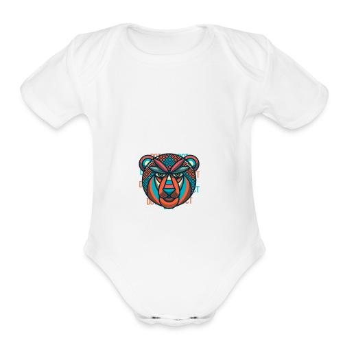 Design Lion Panda - Organic Short Sleeve Baby Bodysuit