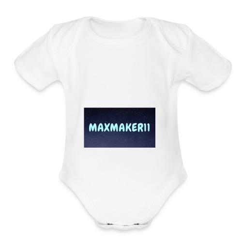 Maxmaker11 Shirt - Organic Short Sleeve Baby Bodysuit