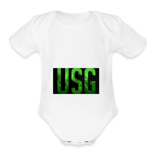 Call of duty World war 2 USG logo - Organic Short Sleeve Baby Bodysuit