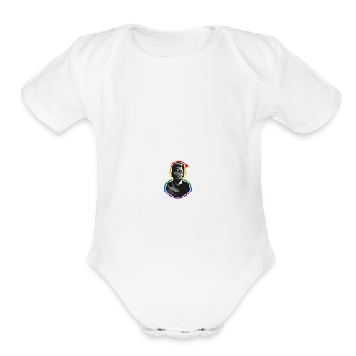 Macklemore Pride Illustration - Organic Short Sleeve Baby Bodysuit